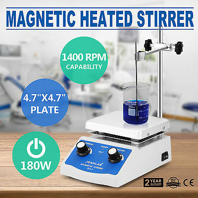 Sh-2 Magnetic Stirrer Hot Plate Dual Controls Stir Bar Electric 1600Prm Good