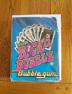 1986 Dandy Rock'n Bubble Sealed Box -  Rare Playing Cards Springsteen  90 Packs