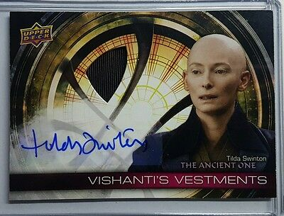 2016 Upper Deck Doctor Strange Tilda Swinton Autograph And Patch Vha-Ts.