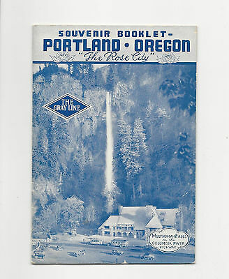 Neat Vintage Travel Brochure Book Of Portland Oregon From The Gray Line Motors