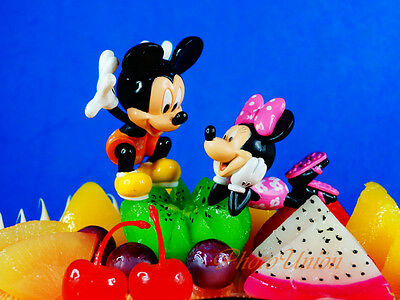 Cake Topper Decoration Disney Mickey Minnie Mouse Set 2 Figures A630 AB