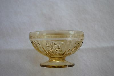 Sundae Dish Federal Amber Sharon Cabbage Rose