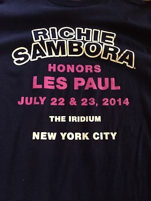 Richie Sambora Rare T-shirt And Ticket Bon Jovi