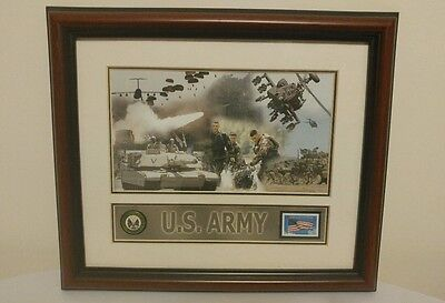 USPS US Army Framed Honoring Veterans 34 Cent Stamp 2001 - Short Production Run!