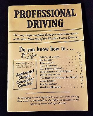 1946 Professional Driving Ethyl Corp Vintage Car Memorabilia Driving Booklet