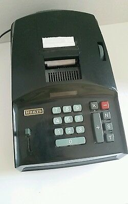 Vintage Sears Adding machine Green Model 873.58290 Electric Adding Machine
