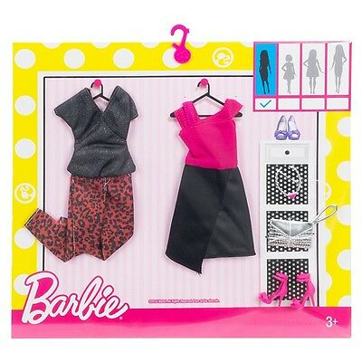 """New! 2017 Barbie Complete Look Fashion 2-Pack """"edgy"""" ~ Fits Original Doll"""
