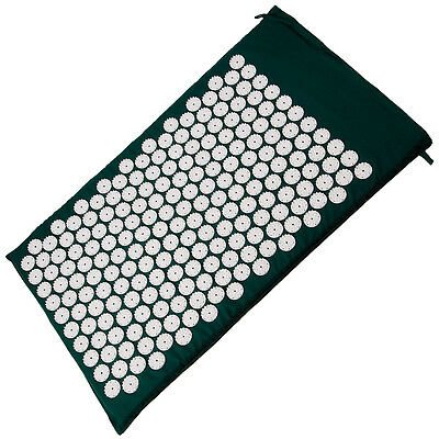 Green Acupressure Meditation Massage  Prana Yoga Insomnia Mat 75 X 44 Cm