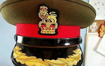 british army officers brigadiers field cap new size 60