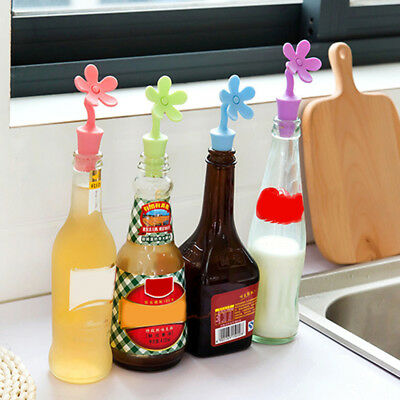 1PCS Novelty Sun Flower Silicone Wine Pourer Bottle Stopper Kitchen Tools