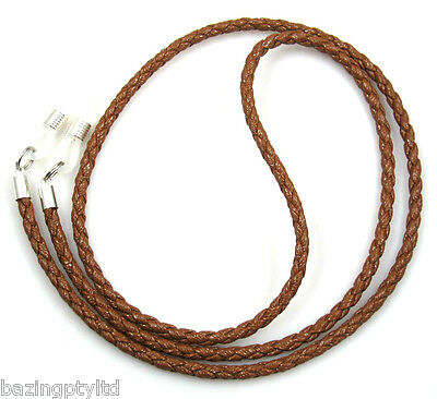 Brown Leather Cord Sunglasses Reading Glasses Spectacles Eyeglass Holder Chain
