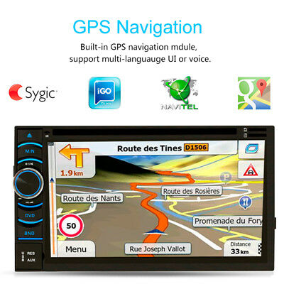 """6.2"""" HD Doble 2 Din Android Coche DVD Estéreo Reproductor Bluetooth GPS WIFI FM"""