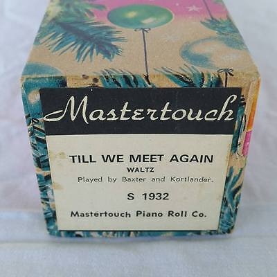 Pianola Piano Roll Til We Meet Again Waltz Mastertouch S 1932 - 008