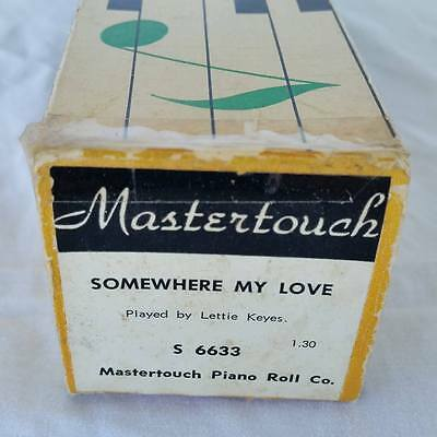 Pianola Piano Roll Somewhere My Love Dr Zhivago Mastertouch S 6633 - 012