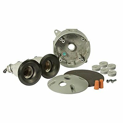 Hubbell Bell 5829-5 Round Box and Lamp Kit, Gray