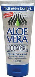 Fruit Of The Earth 100% Aloe Vera 6oz. Gel Tube