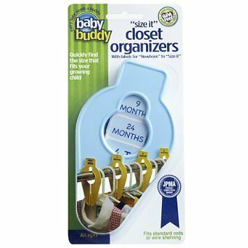 Baby Buddy Size-It Closet Organizers, Blue, 5 Pack