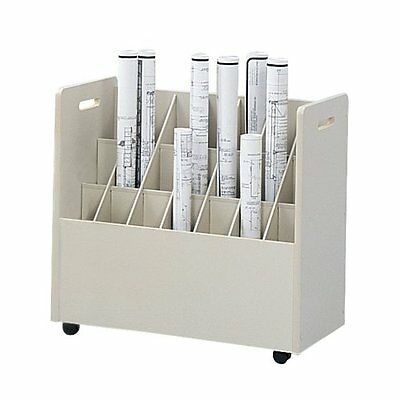 Safco(R) Mobile Roll File, 21 Bins, 3 3/4in. Tubes