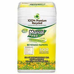 Marcal(R) Recycled Beverage Napkins, Single-Ply, Pack Of 500
