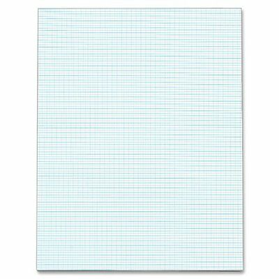 TOPS Quadrille Pad, 8.5 x 11 Inches, 10 Squares per Inch, 20 Pound Stock, 5