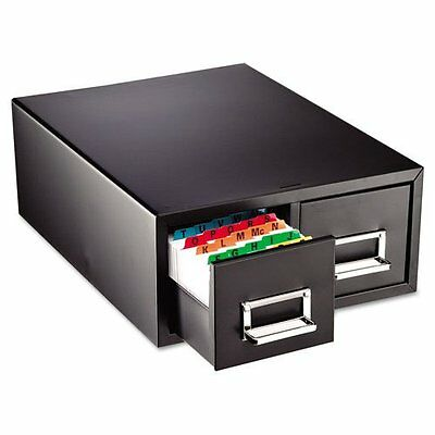 STEELMASTER Medium Double Card File Drawer, Fits 4 x 6 Cards, 3000 Card Cap