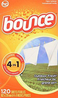 Bounce Fabric Softener Sheets, Outdoor Fresh Scent, 120-Count Box (Pack of
