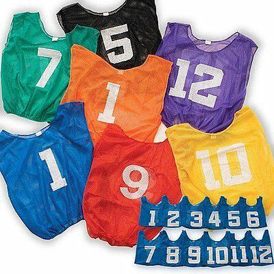 BSN/SSG Adult Lightweight Numberd Scrimmage Vest, Royal (One Dozen)