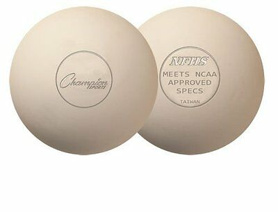 Champion Sports Official Lacrosse Balls (White, Pack of 12)