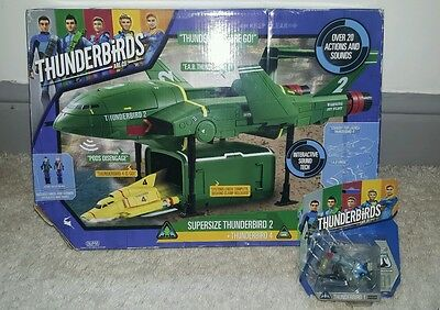 Thunderbirds Are Go! ThunderBirds 1 2 and 4 Large Playset with action sounds