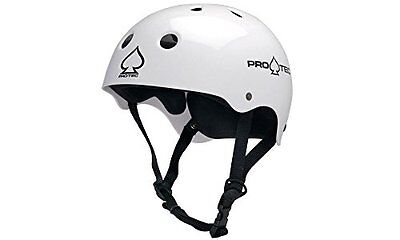 Protec Adult Helmet (Glossy White, Small)