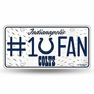 NFL Indianapolis Colts #1 Fan Metal Auto Tag