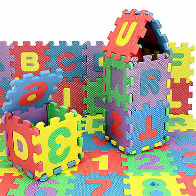 36Pcs Kids Baby Soft Alphabet Numeral Foam Play Mat Educational Puzzle Toy Set