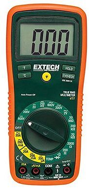 Extech EX411 True RMS Manual Ranging Digital Multimeter with Type K Remote