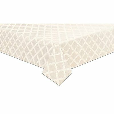 Lenox Laurel Leaf 70-by-86-Inch Oblong / Rectangle Tablecloth, White
