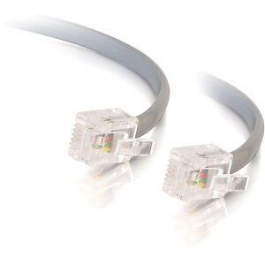 C2G / Cables to Go 8134 RJ12 Modular Telephone Cable (Silver)