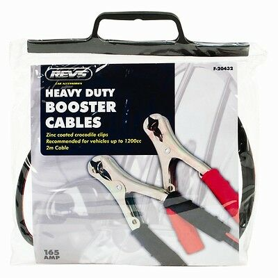 2 Pcs Heavy Duty Jump Leads , Booster Cables with Crocodile Clip & 2 Metre Cable