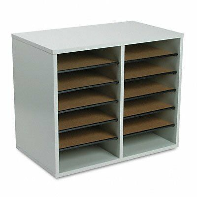 Safco Products 9420GR Wood Adjustable Literature Organizer,