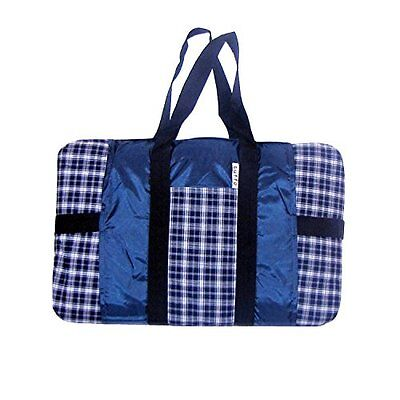 Tuffo Water-Resistant Outdoor Blanket, Navy Plaid