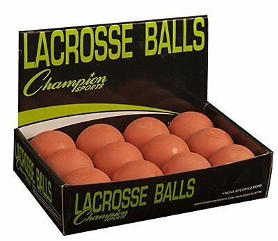 Champion Sports Low Bounce Lacrosse Ball (Orange, Pack of 12)