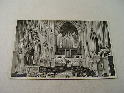 TOP10253 - Real Photo Postcard - Wells Cathedral Choir Looking West 1954