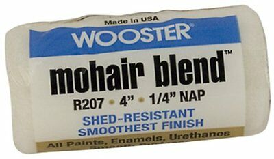 Wooster Brush R207-4 Mohair Blend Roller Cover 1/4-Inch Nap,