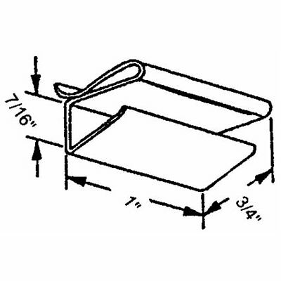 """Slide-Co 1890 Screen Retainer Clips: Fits 3/8"""" and 7/16"""" (Bl"""