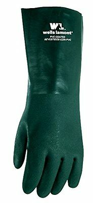 Wells Lamont 167L Heavyweight PVC Fully Coated Gloves, Cotton Jersey Lining