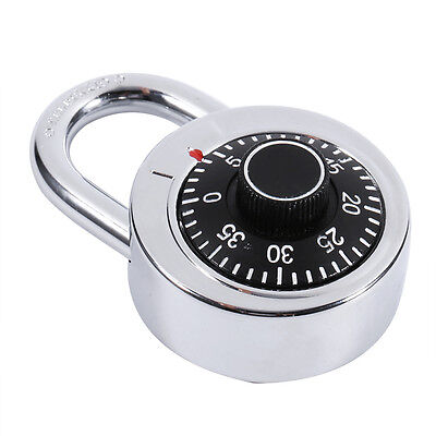 Safe Rotary Digit Combination Padlock Master Code Lock With Round Fixed Dial LJ