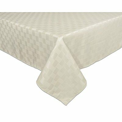 Reflections 52 by 52-Inch Square Tablecloth, Pearl