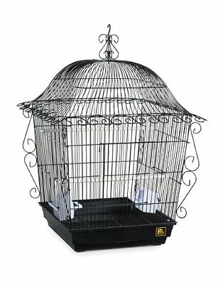 Prevue Pet Products Jumbo Scrollwork Bird Cage 220BLK Black, 18-Inch by 18-
