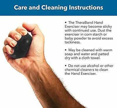 Thera-Band Hand Exerciser Extra Lg Size, Black, Xtra Firm