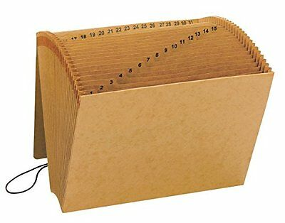 Smead Kraft 1-31 Index 12 x 10 Inch Expanding File with Flap and Elastic Co