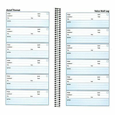 Rediform Detail Voice Mail Log, White, 10.625 x 5.625 Inches, 600 Messages