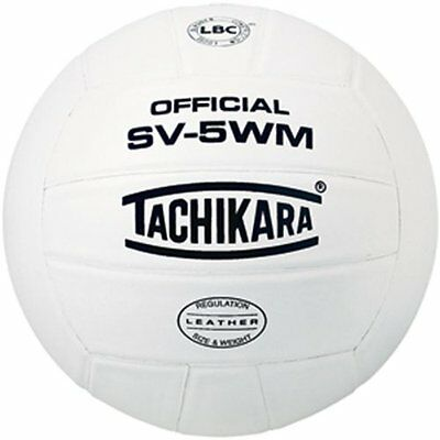 Tachikara SV5WM Full Grain Leather Practice Volleyball (White)